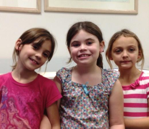 3 cousins ears pierced at Rothsteins